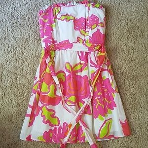 Lilly Pulitzer Strapless Dress Size 0